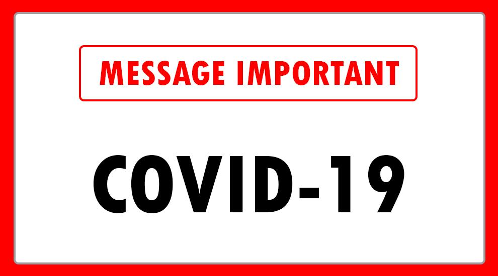 Message important covid 20